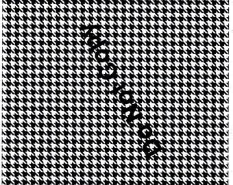 Black Houndstooth Digital Download