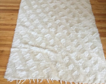 Handmade lambswool Turkish antique rug