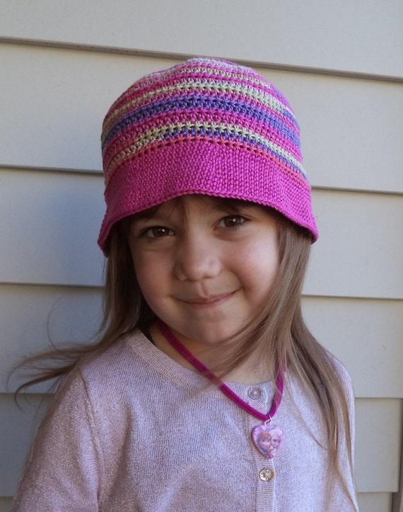 Crochet PATTERN, Crochet bucket hat pattern for kids 6 to ...