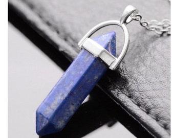 Lapis Lazuli, Clear Quartz, Rose Quartz Pendants