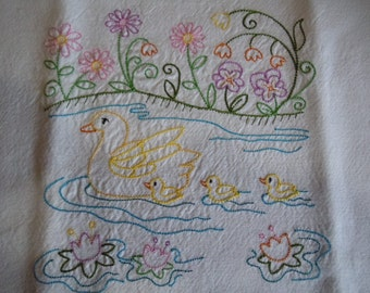 Embroidered Tea Towels