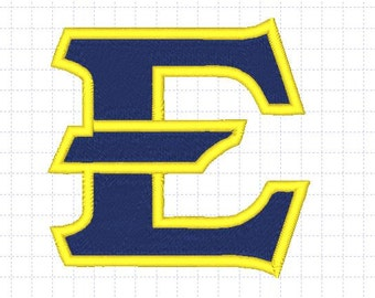 East Tennessee State Buccaneers and Lady Buccaneers Embroidery Design, 4x4, Instant Download