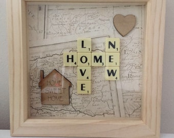 Personalised Scrabble Art Picture Frame Gift Idea
