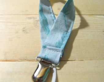 Binky | Pacifier | Clip | Feathers | Teal | Blue