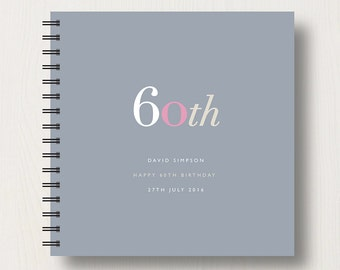 Personalised 60th Birthday Memories Book or Album