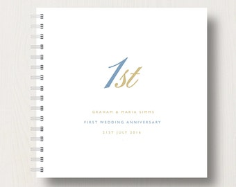 Personalised 1st Paper Anniversary Memories Book or Album
