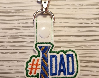 Number one Dad Key Chain