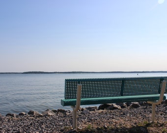 Bench - Kentucky - Lake - Lakeview - Tranquil - Serene - Relax - Waterscape - Sunset - Original Fine Art Photo Print