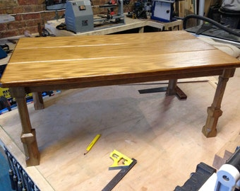 Hand made Solid Oak Coffee Table