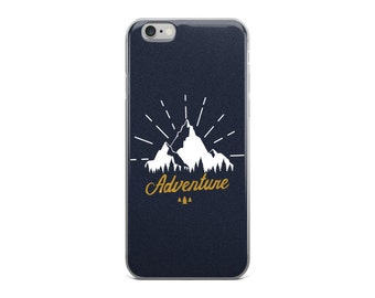 Adventure Mountains Navy Blue iPhone6 Case | iPhone6 iPhone6s Cell Phone Case