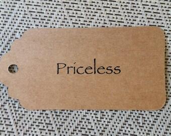 Priceless Price Tags, Price Tags, Gift Tags, Rustic Price tags, Priceless Gifts, Wedding Tags, Birthday Tags, Anniversary Tags