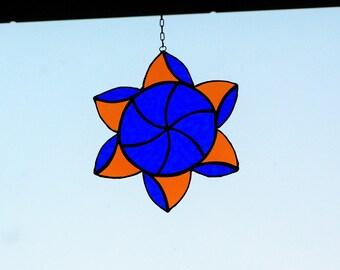 Stained glass suncatcher Star