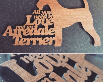 Airedale Terrier Dog Sayings Plaque