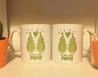 We make a great pear mugs PAIR