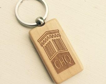CHQ ( Chautauqua ) Keychain