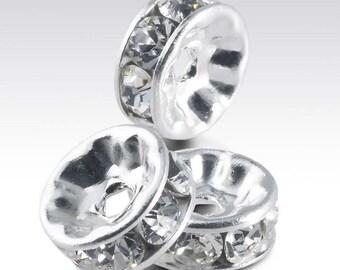 Add a swarovski spacer, gold swarvorski crystal, silver swarvorski crystal, swarvorski spacer, swarvorski crystal
