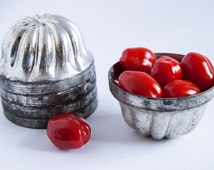 Baking Mold Miniature Bundt Cake Ring 5 Pieces Vintage Form Pan Dish Bowl Flower Pot