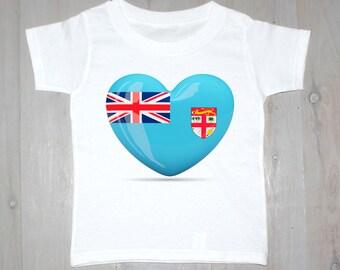 Fijian Heart Printed Baby Onesies & Kids Tees