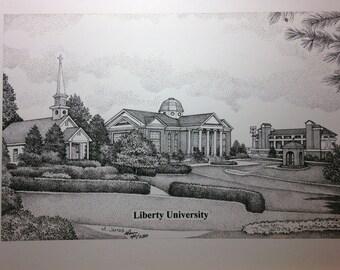 Liberty University 11x14 print