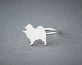 SAMOYED RING / Samoyed Ring / Silver Dog Ring / Dog Breed Ring / Silver, Gold Plated or Rose Plated.