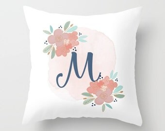 Personalized Nursery Pillow, Monogram Nursery Pillow, Monogrammed Pillow, Baby Girl Nursery Ideas, Personalized Pillow // Soft Touch
