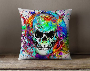 Skull Pillow | Skull Throw Pillow | Skull Bedding | Skull Gifts | Skull Decor | Skull Pillow Cover | Skull Decoration | Skull Cushion