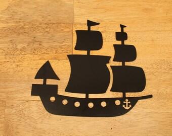 Sailboat- sailing ship- metal ship