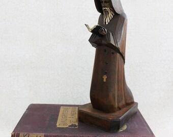 Vintage Wood Monk