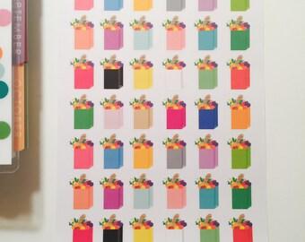 Rainbow grocery bags