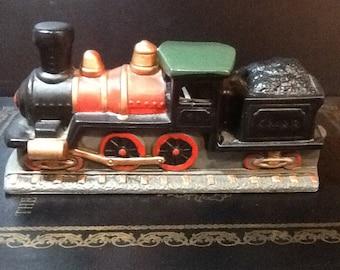 Vintage Lefton Train Steam Locomotive Hand Painted 1989 All Labels