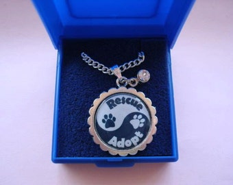 Dog Rescue Pendants and chain. Choose from 4