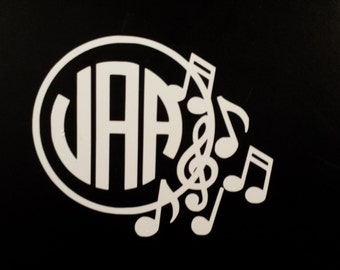 Band Decal, Band Monogram, Band Sticker, Marching Band Sticker, Car Decal, Laptop Decal, Instrument Case Decal, Vinyl Decal, Orchestra Decal