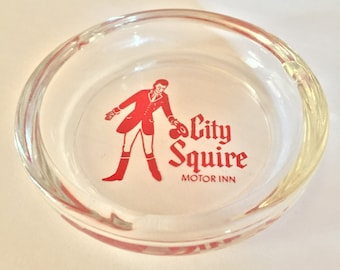 Vintage City Squire Motor Inn Ashtray- Shipping Included