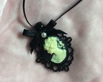 Mini Victorian Cameo Necklace