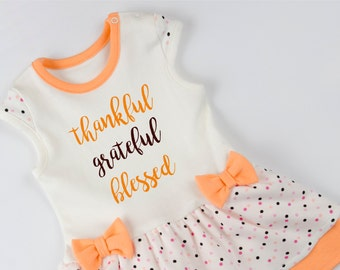 Thankful Grateful Blessed Baby Bodysuit. Baby Girl