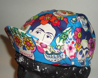 Cycling cap frida and skull cotton print size M L