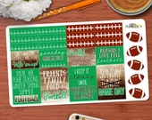 Football Season Quotes & Decorative stickers perfect for your Erin Condren life planner or any other planner