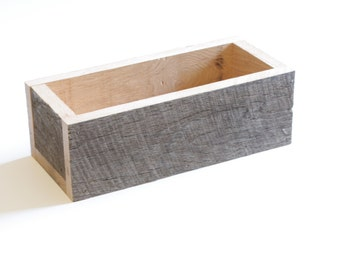 Wood Planter - Reclaimed wood, Centerpiece, Wedding Decoration, Wood Box, Display