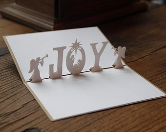 3D Joy Merry Christmas 3D Pop Out Card