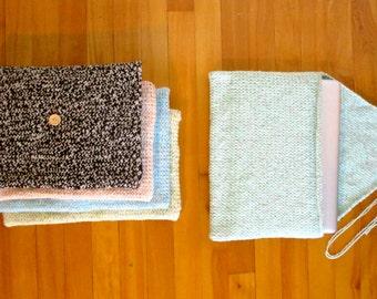 Handmade Knit Laptop Computer Sleeve Case Made au Québec