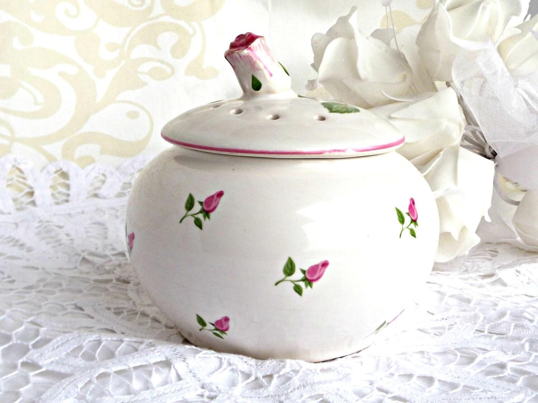 vintage potpourri bowl home decor retro potpourri bowl. Black Bedroom Furniture Sets. Home Design Ideas