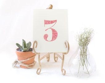 Table Numbers Indian Wedding Henna/ Mehndi
