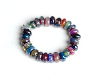 Handmade Assorted Borosilicate Bead Bracelet