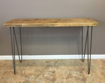 Urban Wood Console Table, Hairpin Legs, Modern, Rustic, Wood Table, Reclaimed Wood Furniture