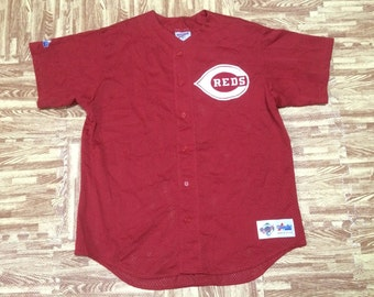 Vintage REDS CINCINNATI Major League Baseball Majestic Diamond Collection Team Jersey Made in Usa Large Size