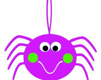 Cute Spider SVG, Studio 3, DXF, EPS, ps and pdf Cutting Files for Electronic Cutting Machines