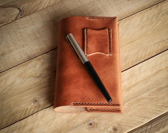 Notebook Cover, Horween Leather, Leather Notebook Cover, Leather Journal Cover, Moleskine / Fieldnotes Cover, Leather Accessories
