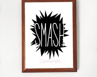 """Modern """"Smash"""" Wall Art **Printable**"""