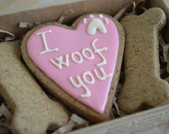 Valentine's Day dog treats - I  woof U