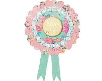 Floral Vintage Shabby Chic Feel Truly Baby 'Mum To Be' Rosette